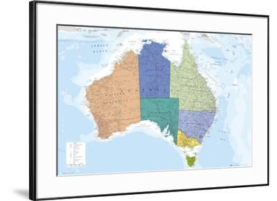 AUSTRALIA MAP--Framed Poster