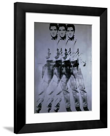 Triple Elvis, 1963-Andy Warhol-Framed Giclee Print