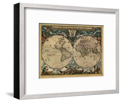 World Map, c.1664-Joan Blaeu-Framed Giclee Print