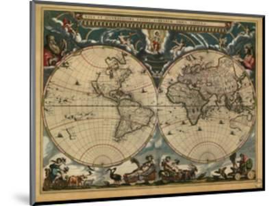 World Map, c.1664-Joan Blaeu-Mounted Giclee Print