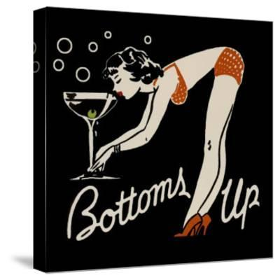 Bottoms Up--Stretched Canvas Print