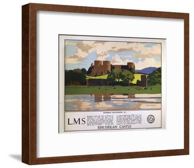Rhuddlan Castle--Framed Art Print