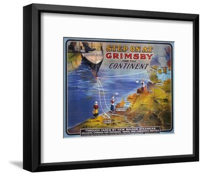 Step on at Grimsby--Framed Art Print