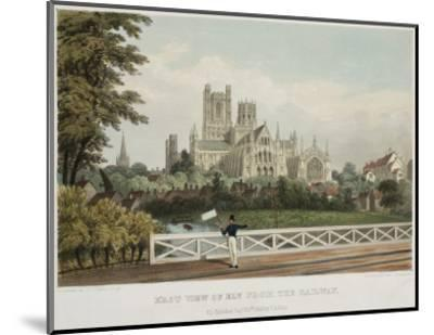 East View of Ely from the Railway--Mounted Art Print