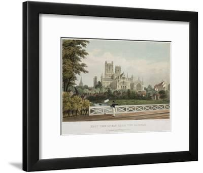 East View of Ely from the Railway--Framed Art Print