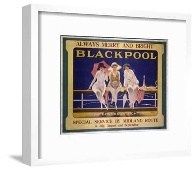 Blackpool Three Ladies--Framed Art Print