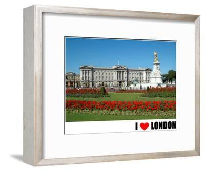 Buckingham Palace, I Love London--Framed Art Print