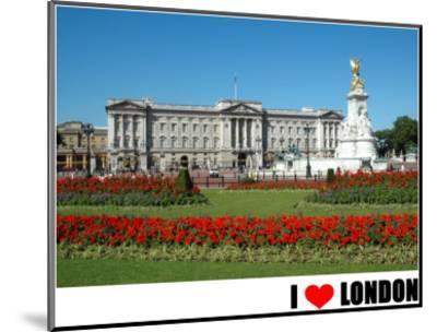Buckingham Palace, I Love London--Mounted Art Print