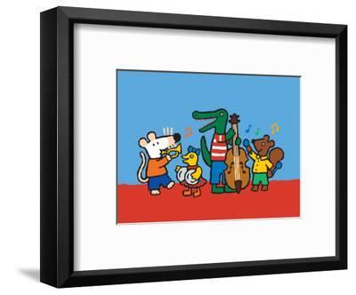 Maisy and the Band-Lucy Cousins-Framed Art Print