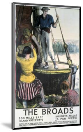 The Broads--Mounted Art Print