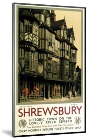 Shrewsbury--Mounted Art Print