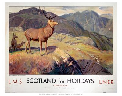 Scotland for Holidays--Art Print