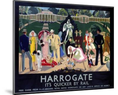 Harrogate Busy Park--Mounted Art Print