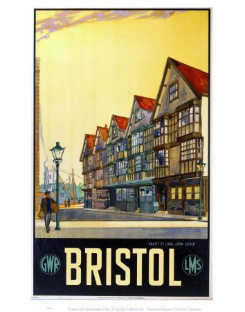 Bristol, Haunt of Long John Silver--Framed Art Print