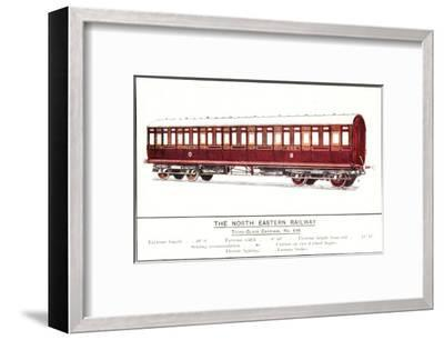 Third Class Carriage, No. 646, North Eastern Railway--Framed Art Print