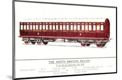 Third Class Carriage, No. 646, North Eastern Railway--Mounted Art Print