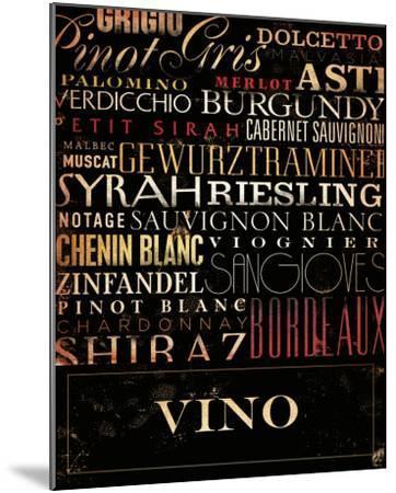 Vino Type-Stephen Fowler-Mounted Art Print