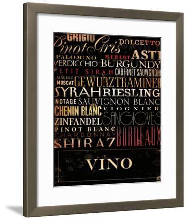 Vino Type-Stephen Fowler-Framed Art Print