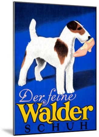 Der feine Walder Schuh--Mounted Giclee Print