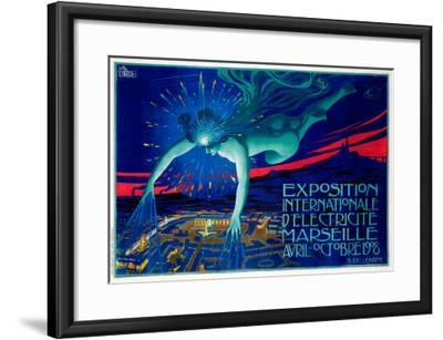 Exposition d'Electricite Marseille--Framed Giclee Print