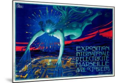 Exposition d'Electricite Marseille--Mounted Giclee Print
