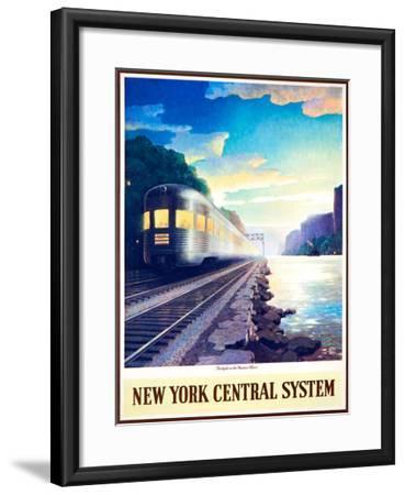 Twilight on the Hudson River--Framed Giclee Print