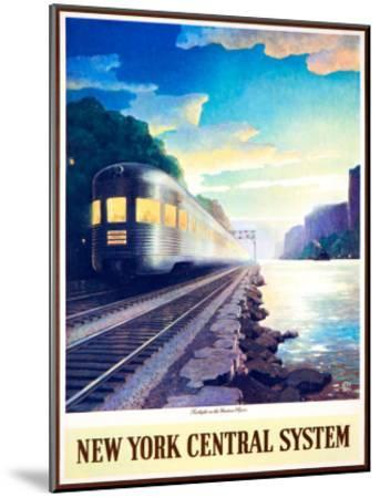 Twilight on the Hudson River--Mounted Giclee Print