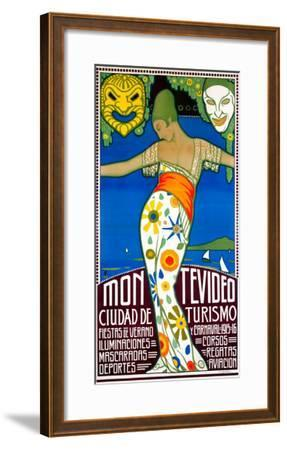 Montevideo, Cuidad de Turismo--Framed Giclee Print