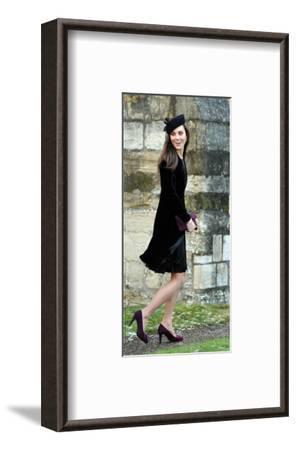 Kate Middleton, Attending Friend's Wedding--Framed Giclee Print