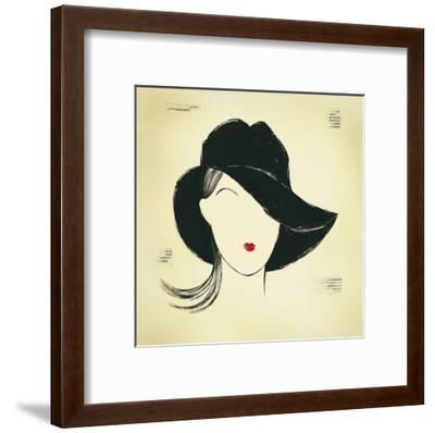 Black Borsalino-E^ Serine-Framed Art Print