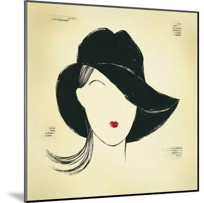 Black Borsalino-E^ Serine-Mounted Art Print