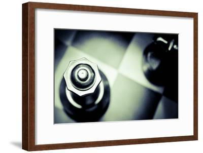 Black and White Chess IX-Jean-Fran?ois Dupuis-Framed Art Print