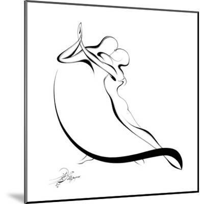 Dancing Couple VI-Alijan Alijanpour-Mounted Art Print