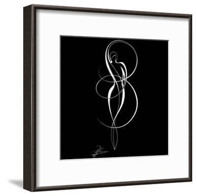 Dancing Silouhette I-Alijan Alijanpour-Framed Art Print
