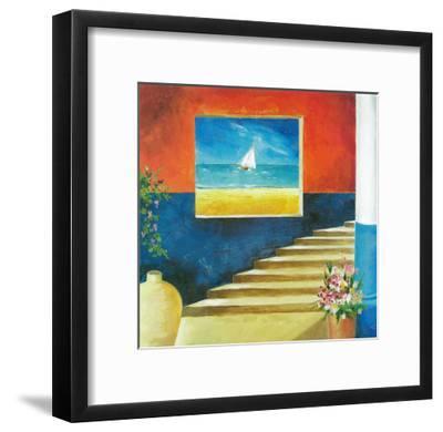 Aegean Window-Don Valenti-Framed Art Print
