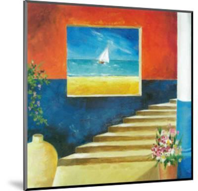 Aegean Window-Don Valenti-Mounted Art Print