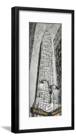 Empire State Bldg-L^ Cartier-Framed Art Print