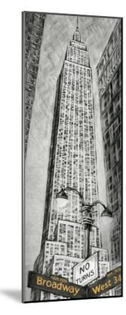 Empire State Bldg-L^ Cartier-Mounted Art Print