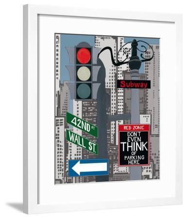 Manhattan Signes I-P. Clement-Framed Art Print