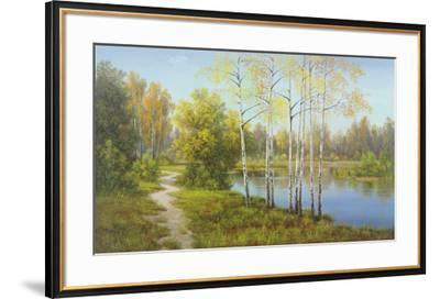Light in the Forest-Slava-Framed Art Print