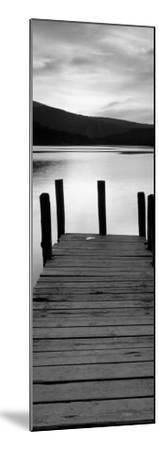 Sunset with Wooden Jetty, Derwenwater-Granville Harris-Mounted Art Print