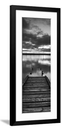 Jetty at Dawn, Chesil Beach, Dorset-Ben Pipe-Framed Art Print