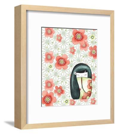 The Mizuki Dolls: Hanako-Sam Bamford-Framed Art Print