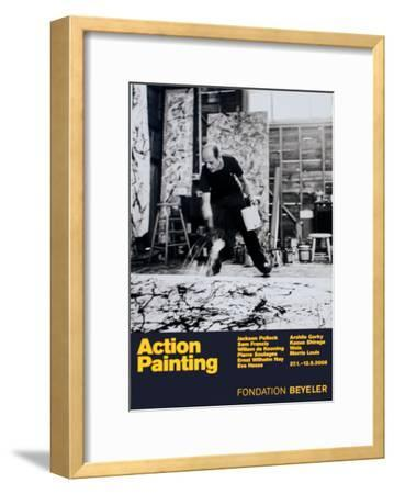 Painting Autumn Rhythm No. 30-Jackson Pollock-Framed Art Print