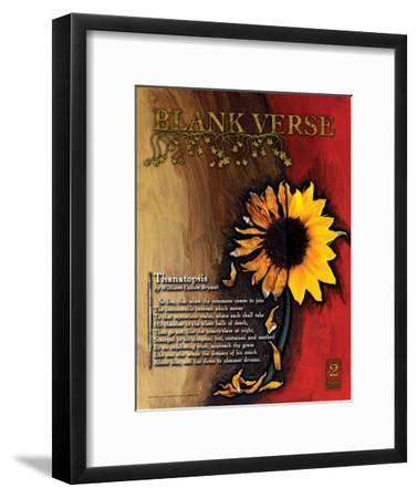 Blank Verse Poetry Form-Jeanne Stevenson-Framed Art Print