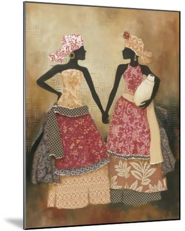 Village Women I-Carol Robinson-Mounted Art Print