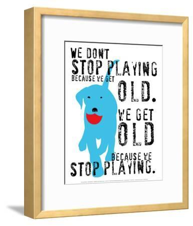 Don't Stop Playing-Ginger Oliphant-Framed Art Print