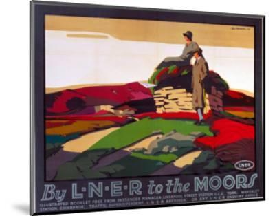 By LNER to the Moors, LNER, c.1923-1947--Mounted Art Print