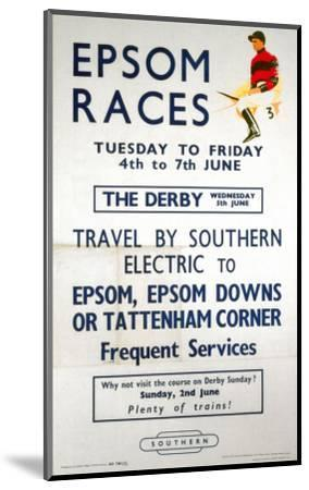 Epsom Races, BR, c.1957--Mounted Art Print
