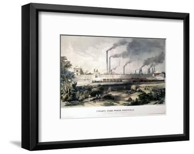 View on the Midland Railway, Cyclops Steel Works, Sheffield, c.1845--Framed Art Print